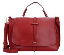 Dalston Handtasche Leder red currant
