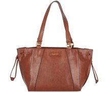 Camilla Shopper Tasche Leder brown-gold