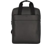 Aiko 4 Rucksack Leder Laptopfach black