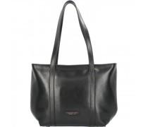 Vittoria Shopper Tasche Leder nero