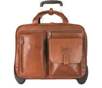 Montana 2-Rollen Businesstrolley RFID Leder Laptopfach colt