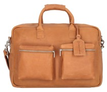 The College Bag Aktentasche Leder Laptopfach tobacco