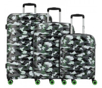 Wavetwister 4-Rollen Kofferset 3tlg. camo/acid green