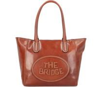 Penelope Shopper Tasche Leder brown-gold