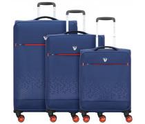 Crosslite 4-Rollen Kofferset 3tlg. blu