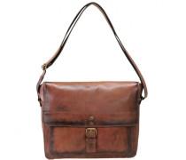 Ranger Umhängetasche M Messenger Bag Leder Laptopfach cognac