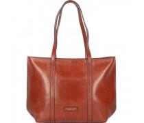 Vittoria Shopper Tasche Leder 40cm marrone