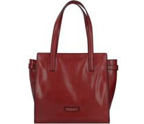 Bianca Handtasche Leder red currant-gold