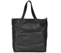 Stockholm 34 Shopper Tasche Leder black