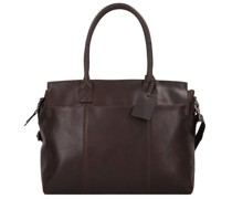 Vintage Doris Schultertasche Leder Laptopfach brown