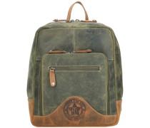 Hunter City Rucksack Leder khaki/brown