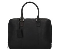 Antique Avery Aktentasche Leder Laptopfach black