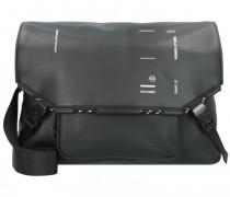 Kyoto Messenger Leder Laptopfach black