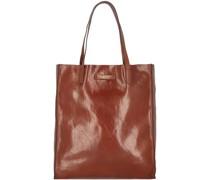 Mirra Shopper Tasche Leder brown-gold