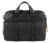 Modus Special Aktentasche Leder Laptopfach black