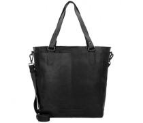 Wax Pull Up Jade Shopper Tasche Leder black