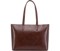 Madrid Shopper Tasche RFID Leder Laptopfach burgundy
