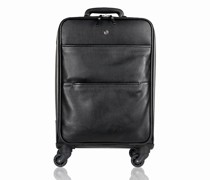 Berlin 4-Rollen Kabinentrolley Leder Laptopfach black