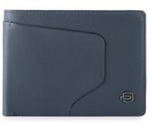 Akron Geldbörse RFID Leder blue