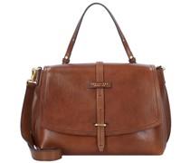 Dalston Handtasche Leder brown-gold