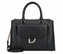 Von Handtasche Leder black/gold