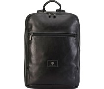 Montana Businessrucksack RFID Leder Laptopfach black