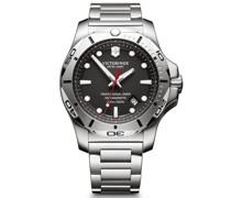 I.N.O.X. Professional Diver Taucheruhr Edelstahl black silver