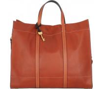 Carmen Shopper Tasche Leder brown