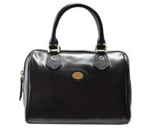 Story Donna Barrel Bag Handtasche Leder nero-goldfarben