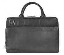 700er Serie Aktentasche Leder 38, Laptopfach schwarz