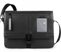Explorer Messenger Leder Laptopfach black