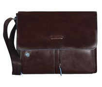 Blue Square Messenger Leder Laptopfach