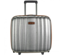 Lite Cube DLX Upright 2-Rollen Businesstrolley Laptopfach aluminiumfarben