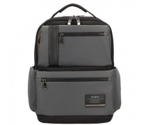 Openroad Business Rucksack Leder Laptopfach eclipse grey