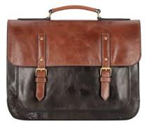 Greenville Aktentasche Leder 40, Laptopfach brown/black