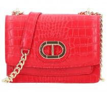 Mini Bag Umhängetasche Leder rosso