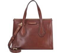 Giovanna Handtasche Leder brown-gold