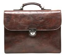 Rien Aktentasche RFID Leder 39, Laptopfach cognac