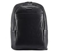 Modus Rucksack Leder Laptopfach black