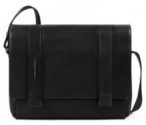 Kobe Messenger Leder Laptopfach black