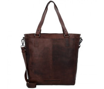 Wax Pull Up Jade Shopper Tasche Leder brown