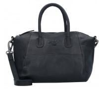 Trendy Handtasche Leder black