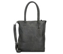 Woodridge Schultertasche Leder Laptopfach dark green