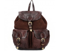 City Rucksack Leder coffee