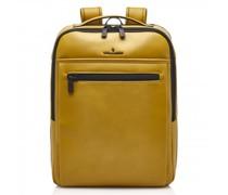 Nappa X Victor Rucksack RFID Leder Laptopfach yellow