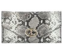 Clutch Tasche Leder 25, grigio
