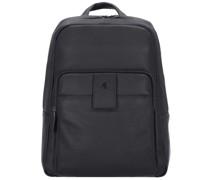 S86 Rucksack Leder Laptopfach black