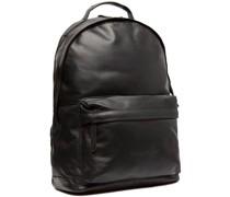 Wax Pull Up Calgary Rucksack Leder Laptopfach black