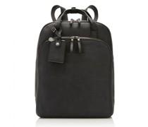 Carisma City Rucksack RFID Leder Laptopfach black
