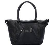 Black Nappa Shopper Tasche Leder black
